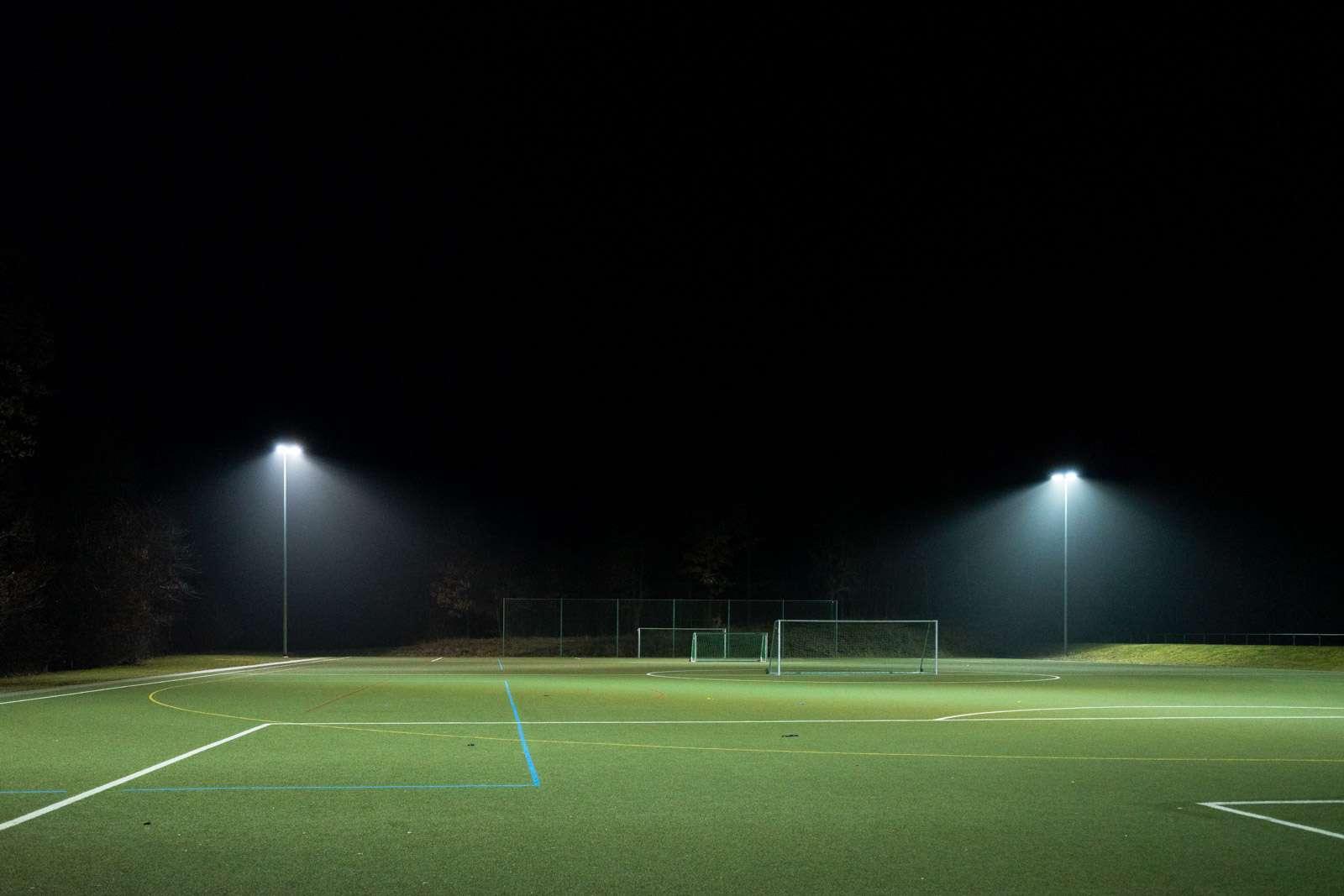 Stadion Licht Nachts